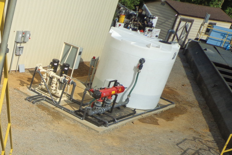 After new water tank installation